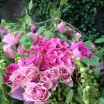 ばらとあじさいのピンクブーケ/tiltflowers