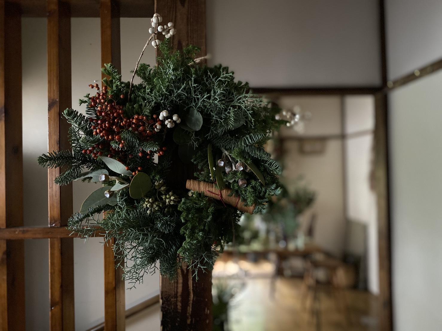 【教室のお知らせ】クリスマスの花教室